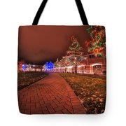 002 Christmas Light Show At Roswell Series Tote Bag