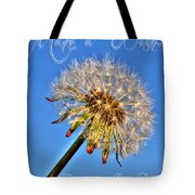 002 Make A Wish With Text Tote Bag