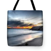 0020 Awe In One Sunset Series At Erie Basin Marina Tote Bag