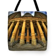 0022 Admiring The Architecture Of Our City Hall Tote Bag