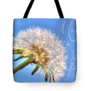 003 Make A Wish With Text Tote Bag