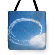 0036 - Air Show - Pastel Chalk Tote Bag