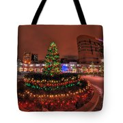 004 Christmas Light Show At Roswell Series Tote Bag