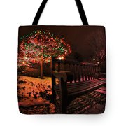 005 Christmas Light Show At Roswell Series Tote Bag
