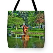 005 Reflecting At Forest Lawn Tote Bag
