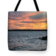 008 Awe In One Sunset Series At Erie Basin Marina Tote Bag