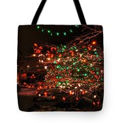 008 Christmas Light Show At Roswell Series Tote Bag