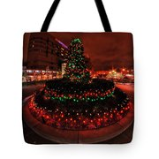 009 Christmas Light Show At Roswell Series Tote Bag