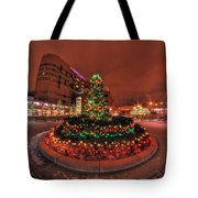 012 Christmas Light Show At Roswell Series Tote Bag