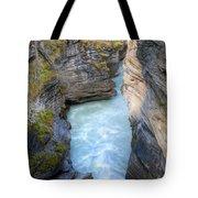 0142 Athabasca River Canyon Tote Bag