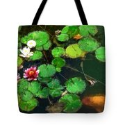 0148-lily -   Oil Stain Sl Tote Bag