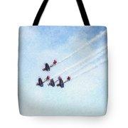 0161 - Air Show - Pastel Chalk 2  Tote Bag