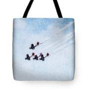 0161 - Air Show - Watercolor Tote Bag