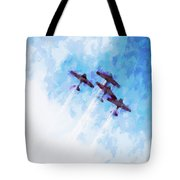 0166 - Air Show - Oil Stain Tote Bag