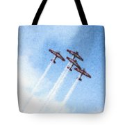 0166 - Air Show - Pastel Chalk 2 Tote Bag