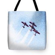 0166 - Air Show - Watercolor 1 Tote Bag