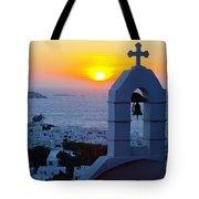 0209 Mykonos Sunset Tote Bag