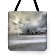 0242 Wintry Chicago Tote Bag