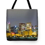 0247 Chicago Skyline Panoramic Tote Bag