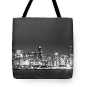 0248 Chicago Skyline Panoramic Tote Bag