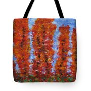 026 Red Trees Tote Bag