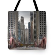 0295 Lasalle Street Chicago Tote Bag