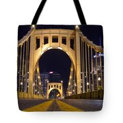 0304 Roberto Clemente Bridge Pittsburgh Tote Bag by Steve Sturgill