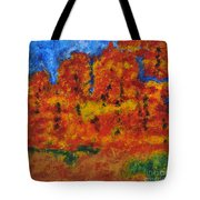 032 Abstract Landscape Tote Bag