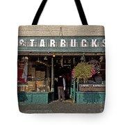 0370 First Starbucks Tote Bag