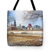 0452 Chicago Skyline Tote Bag