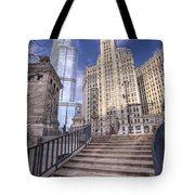0499 Trump Tower And Wrigley Building Chicago Tote Bag