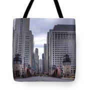 0500 Lasalle Street Bridge Chicago Tote Bag