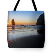 0519 Cannon Beach Sunset 3 Tote Bag
