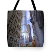 0527 Trump Tower From Wrigley Building Courtyard Chicago Tote Bag