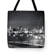 0647 Chicago Black And White Tote Bag