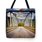 0649 Bow River Bridge Tote Bag