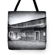 0706 Jerome Ghost Town Black And White Tote Bag