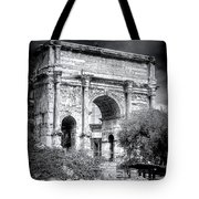 0791 The Arch Of Septimius Severus Black And White Tote Bag