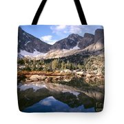 Cirque Of The Towers In Lonesome Lake 5 Tote Bag