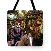 Irish Red And White Setter Art Canvas Print  Tote Bag
