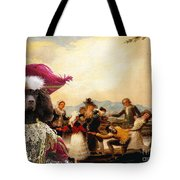 Irish Water Spaniel Art Canvas Print Tote Bag