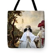 Japanese Chin Art Canvas Print  Tote Bag