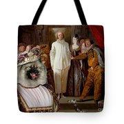 Keeshond Art Canvas Print Tote Bag