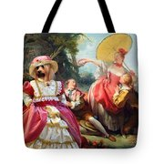 Silky Terrier Art Canvas Print Tote Bag