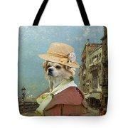 Tibetan Spaniel Art Canvas Print  Tote Bag