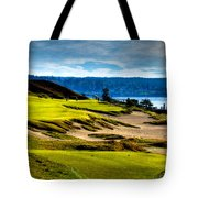 #16 At Chambers Bay Golf Course - Location Of The 2015 U.s. Open Tournament Tote Bag by David Patterson