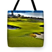 #17 At Chambers Bay Golf Course - Location Of The 2015 U.s. Open Championship Tote Bag by David Patterson