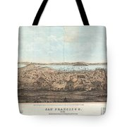 1856 Henry Bill Map And View Of San Francisco California Tote Bag