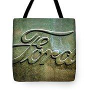 1912 Ford Hood Ornament - Emblem -0496bw Tote Bag