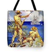 1917 - United States Marines Recruiting Poster - World War One - Color Tote Bag